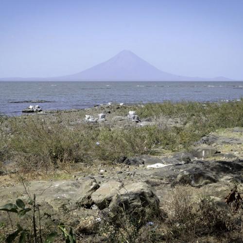 Vista del Lago Cocibolca desde las costas de Obrajuelo, en San Jorge, Rivas. Carlos Herrera/Confidencial.
