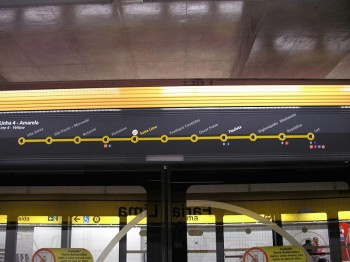 Línea 4, Metro de Sao Paulo. (Fuente: Isolux)