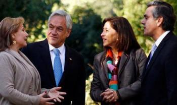 Cecilia Morel, Sebastián Piñera, Cecilia Brinkmann y Pablo Longueira