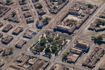 Vista de la Plaza de Armas de María Elena