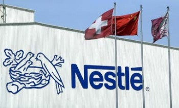 Nestle SA reported a two per cent fall in first-half net profit