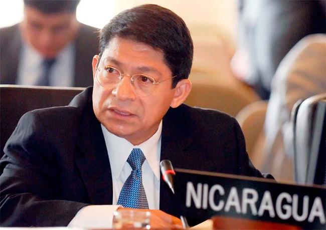 Denis Moncada Colindres, representante permanente de Nicaragua ante la OEA. Foto | EFE | Confidencial
