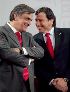 Pablo Longueira y Laurence Golborne