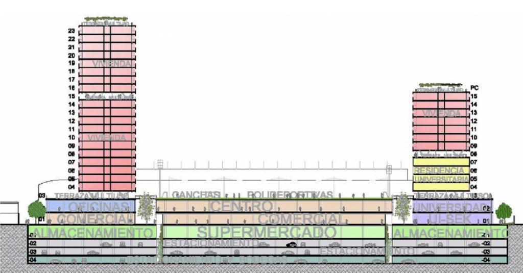 Plano del proyecto original (Fuente: alonsobalaguer.com)