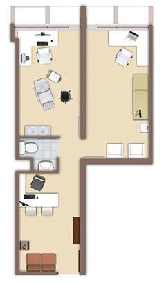 Plano referencial de oficinas de Studio Office (Fuente: www.studioffice.cl)