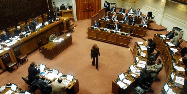 Vista panorámica del Senado chileno