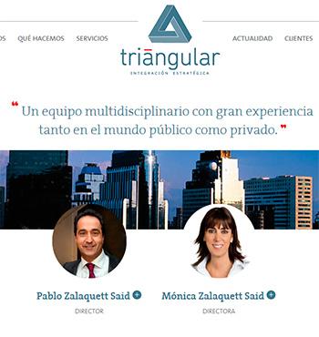 Presentación en la web www.triangular-ie.cl