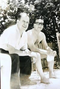 Volpone tomando sol con Salvador Allende